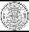 Gyarmati pénz egy el nem ismert gyarmatról, 5 pataca, ezüst, Makaó, 1952