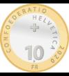 """""""Nyuszi ül a fűben…"""", 10 frank, Svájc, 2020"""