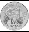 10 euró Martin Kukučín ezüst vf 2010 Szlovákia