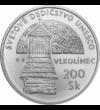 Vlkolinec-i harangláb , 200 korona, ezüst, Szlovákia, 2002