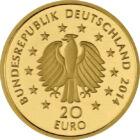 Tavaszi karácsonyfa, 20 euró, arany, Németország, 2014