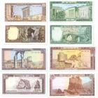 Ókori romok mesélő bankjegyeken, 1, 5, 10, 25, 50, 100, 250 livre, Libanon, 1978-1988