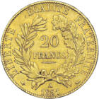 Aranyba foglalt istennő, 20 frank, arany, Franciaország, 1849-1851