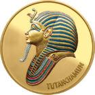 Tutanhamon aranykincsei, aranyozott, festett érem, Egyiptom, ND