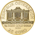 Arany Filharmonikusok, 25 euró, arany, Ausztria, 2020
