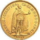 """""""Ferenc Jóska"""" aranya, 10 korona, arany, Osztrák–Magyar Monarchia, 1892-1915"""