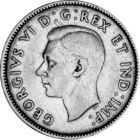 Apa és a lánya – 80 év a trónon, 25 cent, ezüst, Kanada, 1937-1947