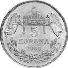 A mindennapok biztonságának jelképe volt, 5 korona, ezüst, Osztrák–Magyar Monarchia, 1900-1909