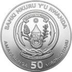 Magellán 500 éve kerülte meg a Földet, 50 frank, ezüst, Ruanda, 2019