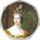 Festett érme festett gyűrűben, 50 penny, Nagy-Britannia, 2012