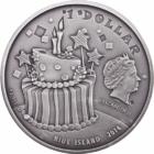 Születésnapra, 1 dollár, ezüst, 2014, Niue