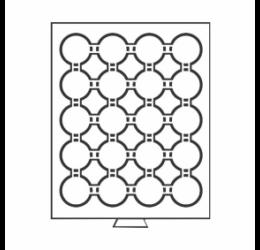 Érmetároló tálca (szekrényhez), 20 x Ø 41 mm - befektető érméknek