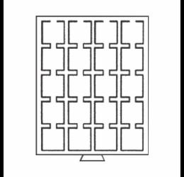Érmetároló tálca (szekrényhez), 20 x Ø 50 mm QUADRUM kapszuláknak