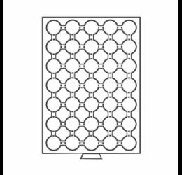 Érmetároló tálca (szekrényhez), 35 x Ø 26 mm – 2 euró