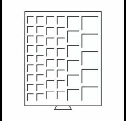 Érmetároló tálcák 45 x (különböző átmérőjű érméknek)