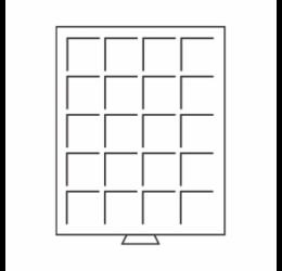 Érmetároló tálca - bőröndhöz (20 x Ø 36 mm10 DM, 10 €, 1 $ CAN)