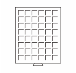Érmetároló tálca - bőröndhöz (48 x Ø 24 mm1 DM, 1 €, 50 euró cent)