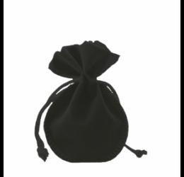 Bársony tasak, fekete, kicsi