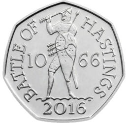Anglia normann megszállása, 50 penny, Nagy Britannia, 2016