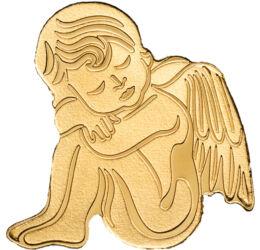 Karácsonyi arany angyal, 1 dollár, arany, Palau, 2019