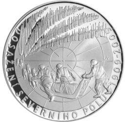Az északi sark meghódítása, 200 korona, ezüst, Csehország, 2009