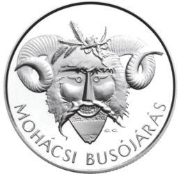 Mohácsi Busójárás, 5000 forint, ezüst, Magyar Köztársaság, 2011