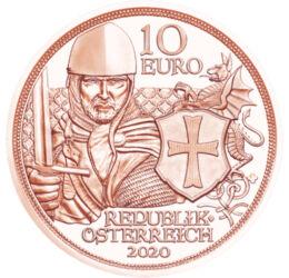 A templomos lovagok, 10 euró, Ausztria, 2020