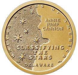 """Amerikai újítók - Delaware, A csillagászat """"doktornője"""", 1 dollár, USA, 2019"""