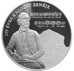 175 éves a Szózat zenéje, 20000 forint, ezüst, Magyarország, 2018
