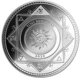 // 5 dollár, 999-es ezüst, Tokelau, 2020 // - Az emberiség legjelentősebb vívmánya az írás. A gondolatok pontos, egyértelmű, később visszaolvasható lejegyzése. Ennek állít emléket ez a színezüst érme, melynek előlapját és hátlapját különböző ősi, maja, su