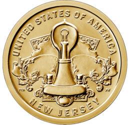 Amerikai újítók - NewJersey, A villanykörte csodája, 1 dollár, USA, 2019