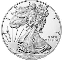 // 1 dollár, 999-es ezüst, USA // -