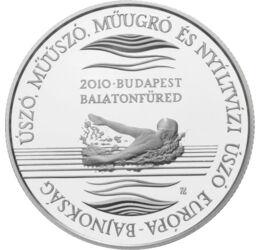 Sikereink az úszásban, 5000 forint, ezüst, Magyar Köztársaság, 2010