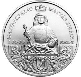 Meghalt Mátyás, oda az igazság!, 20000 forint, ezüst, Magyarország, 2018