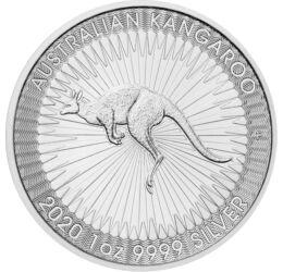 // 1 dollár, 999,9-es ezüst, Ausztrália, 2020 // - Az Ausztrália kibocsátásában évről-évre megjelenő ezüst befektető érmén az ország szimbóluma, a kenguru jelenik meg korábban más-más, 2015-től azonos ábrázolással. Az érmét nemcsak befektetési céllal vesz