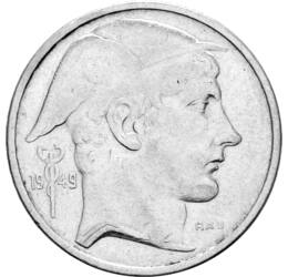 // 50 frank, 835-ös ezüst, Belgium, 1948-1954 // - A belga király, III. Lipót nem lépett fel határozottan a német megszállókkal szemben, ezért a háború után olyannyira népszerűtlen volt, hogy 1950-ben népszavazást kellett tartani a királyságról. Amíg a ki