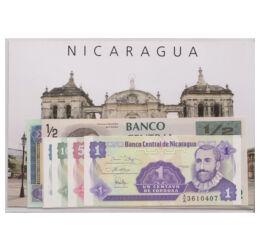 // 1, 5, 10, 25 centavo, 1/2, 1 cordoba, Nicaragua, 1991-1995 // - 1502-ben első európaiként Kolumbusz Kristóf érte el a mai Nicaraguát, viszont az első két jelentős várost Granadát és Leónt, Francisco Hernández de Córdoba alapította. Nicaragua Córdobáról