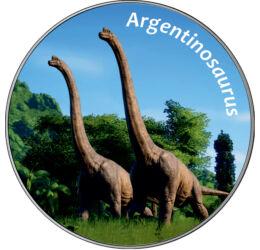 // 25 cent, USA, 2012-2020 // - A dinoszauruszok korában a Földet uraló őslények között meghökkentő méretű élőlények is éltek. A ránk maradt fosszíliák alapján a valaha élt legnagyobb dinoszaurusz a 90 tonnát is elérő argentinoszaurusz volt. A hosszú nyak