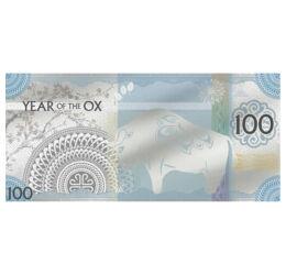 Bivaly éve, 100 tugrik, ezüst, Mongólia, 2021