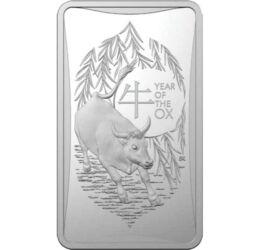 Bivaly éve, 1 dollár, ezüst, Ausztrália, 2021