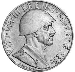 """// 1 lek, Albánia, 1939 // - 1939-ben Mussolini sem akart lemaradni az """"élettér"""" kiterjesztéséből, ezért Olaszország elfoglalta Albániát. Új pénz hirdette az új rendet. III. Viktor Emánuel olasz király, mint albán király jelent meg az érmén, katonai sisak"""