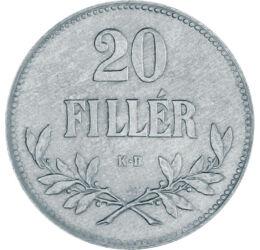 // 20 fillér, Osztrák-Magyar Monarchia, 1920 // - Az 1914 és 1922 között vert 20 fillérek voltak az utolsó pénzeink KB verdejellel. Ezek közül az 1920-ban készült fillérek voltak az utolsó forgalomba került körmöcbányai érméink, melyeket ténylegesen már B