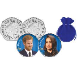 Meghan és Harry, 2x50 penny, Nagy-Britannia