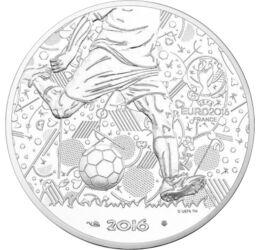 // 10 euró, 333-as ezüst, Franciaország, 2016 // - 2016-ban rendezte Franciaország az UEFA Európa-bajnokságot. 44 év után újra ott volt nemzeti válogatottunk a nemzetközi viadalon! Méghozzá sikeresen, hiszen csoportelsőként bejutottunk a nyolcaddöntőbe. A
