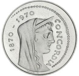 Vatikán egyesülése Olaszországgal, 1000 líra, ezüst, Olaszország, 1970
