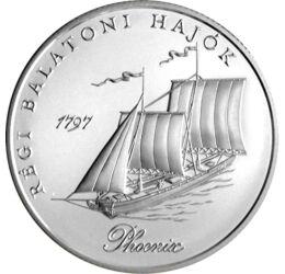 A legnagyobb hajó a Balatonon, 2000 HUF, ezüst, Magyar Köztársaság, 1998