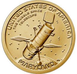1 dollár,Amerik.új.-Hubble űrtávcső USA
