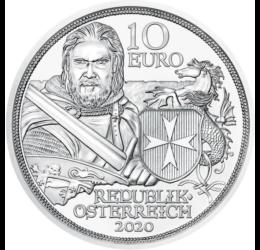 10 euró, Máltai lovagrend, Ag,2020 Ausztria