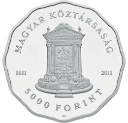 Kossuth Lajos temploma, 5000 forint, ezüst, Magyar Köztársaság, 2011