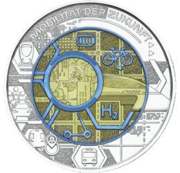 // 25 euró, 900-as ezüst, Ausztria, 2021 // - Az osztrák pénzverő 2003 óta minden évben kibocsát egy nióbium-ezüst 25 eurós érmét, mely a tudomány és technika előrehaladtát, emberiségre gyakorolt hatását mutatja be. Az idei kibocsátás témája a jövő közle